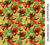 seamless pattern with flowers ... | Shutterstock .eps vector #1095992966