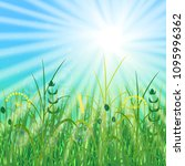 concept summer solstice. sky ... | Shutterstock .eps vector #1095996362