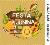 festa junina illustration... | Shutterstock . vector #1095999845