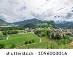 view of the city with vineyard... | Shutterstock . vector #1096003016