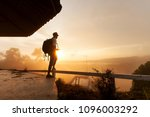 young asia man tourist with... | Shutterstock . vector #1096003292