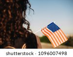 Girl With An American Flag....