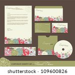 corporate identity set with... | Shutterstock .eps vector #109600826