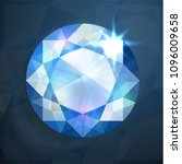 shiny abstract blue diamond... | Shutterstock .eps vector #1096009658
