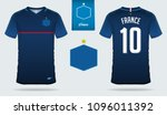 set of soccer jersey or... | Shutterstock .eps vector #1096011392