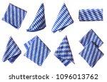 bavarian white and blue napkin... | Shutterstock . vector #1096013762