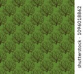 seamless pattern with tree of... | Shutterstock .eps vector #1096018862