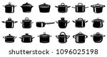 frying hot saucepan cook pan... | Shutterstock .eps vector #1096025198