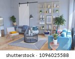 elegant fashionable interior of ... | Shutterstock . vector #1096025588