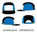 5 panel baseball cap design... | Shutterstock .eps vector #1096026122