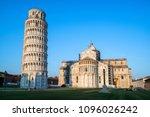 leaning tower of pisa in pisa ... | Shutterstock . vector #1096026242