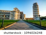 leaning tower of pisa in pisa ... | Shutterstock . vector #1096026248