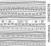 thank you card in ethnic boho... | Shutterstock .eps vector #1096028258