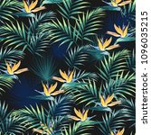 seamless pattern with tropical... | Shutterstock .eps vector #1096035215