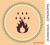 fire and water drops  vector...   Shutterstock .eps vector #1096043996