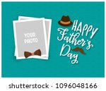 happy father's day greeting... | Shutterstock .eps vector #1096048166