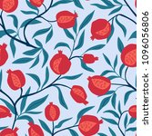tropical seamless pattern with... | Shutterstock .eps vector #1096056806