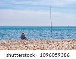 man enjoying his retirement... | Shutterstock . vector #1096059386