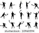 tennis silhouettes | Shutterstock .eps vector #10960594