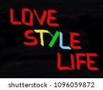 love style life | Shutterstock . vector #1096059872