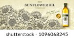 Sunflower Oil Ads In Engraving...
