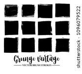 set of black brush stroke and...   Shutterstock .eps vector #1096079522