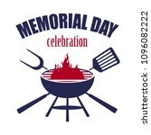 happy memorial day   cookout... | Shutterstock .eps vector #1096082222