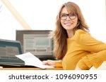 successful smiling mature... | Shutterstock . vector #1096090955