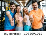group of people training in gym | Shutterstock . vector #1096091012