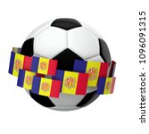 soccer football with andorra... | Shutterstock . vector #1096091315