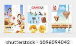 flat game ui posters | Shutterstock .eps vector #1096094042