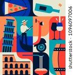 italy  vector flat illustration ...   Shutterstock .eps vector #1096097006