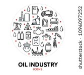 oil and gas industry round... | Shutterstock .eps vector #1096097252