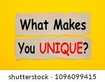 what makes you unique written...   Shutterstock . vector #1096099415