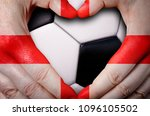 hands painted with an england... | Shutterstock . vector #1096105502