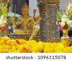 thao maha brahma  erawan shrine ... | Shutterstock . vector #1096115078