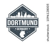 dortmund germany travel stamp... | Shutterstock .eps vector #1096128005