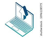 laptop upload browsing data... | Shutterstock .eps vector #1096128575
