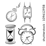 clock set   Shutterstock .eps vector #109612958