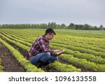 young handsome farmer with...   Shutterstock . vector #1096133558