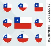 chile flag.  | Shutterstock .eps vector #1096133762