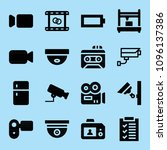 filled technology icon set such ... | Shutterstock .eps vector #1096137386