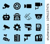 filled technology icon set such ... | Shutterstock .eps vector #1096137476