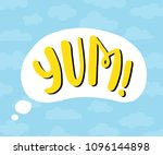 yum text. only one single word. ... | Shutterstock .eps vector #1096144898