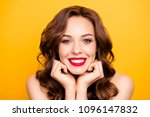 closeup portrait of pretty... | Shutterstock . vector #1096147832