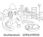 playground graphic black white... | Shutterstock .eps vector #1096149035