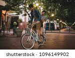 young couple having fun in the... | Shutterstock . vector #1096149902