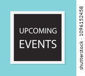 upcoming events concept  vector ... | Shutterstock .eps vector #1096152458