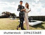 portrait of two female friends... | Shutterstock . vector #1096153685