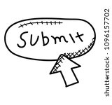 online submit button doodle... | Shutterstock .eps vector #1096157702